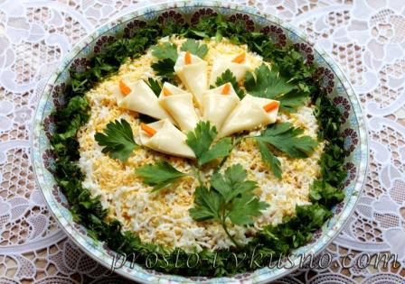 рецепт салатов с грибами и курицей