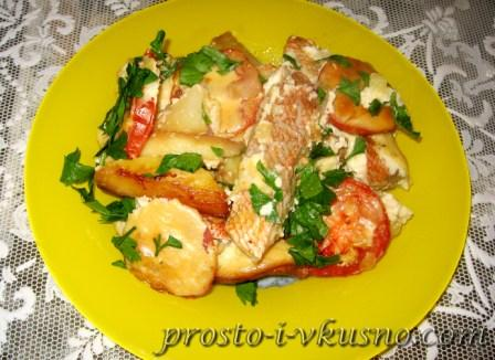 Запеканка из рыбы с овощами 01