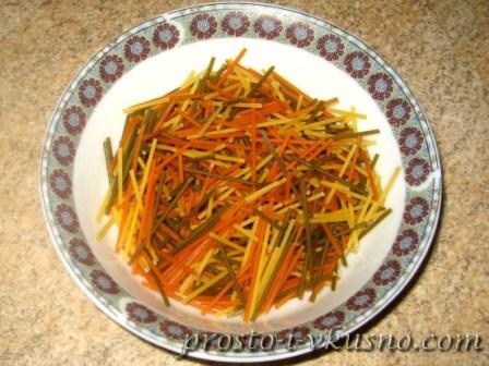 Измельчаем спагетти