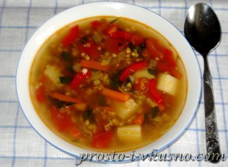 Овощной суп с фасолью Маш