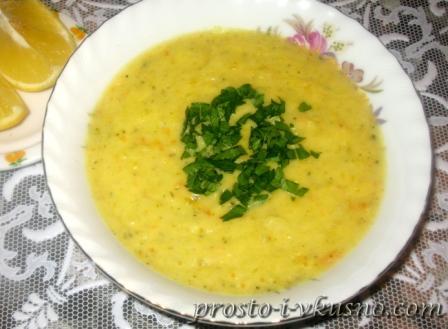 Крем-суп с сыром и брокколи