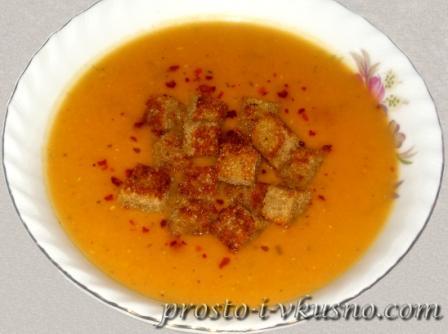 Суп пюре из чечевицы красной