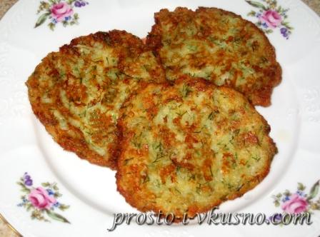 Картофельные оладьи с брынзой и укропом