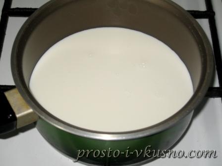 Ставим молоко на огонь