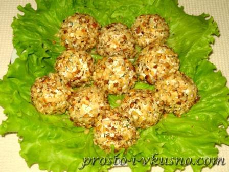 Сырно-ореховые шарики с начинкой