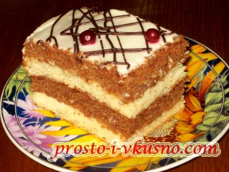 бисквитный торт с сметаной рецепт с фото