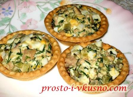 рецепт салат печень трески