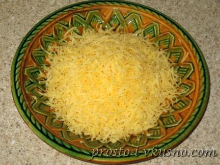 Сыр трем на мелкой терке