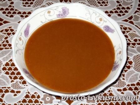 Карамельный соус к блинчикам и оладьям