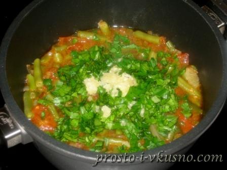 Добавляем овощи к фасоли