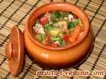 рецепт рыбы с овощами в горшочках
