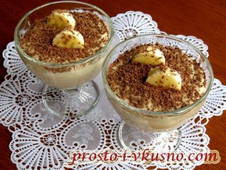 Бананоый крем - десерт