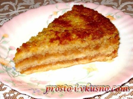 Яблочный пирог насыпной