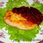 Куриное филе с брусничным соусом 01
