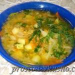 Легкий овощной суп с красной чечевицей 01