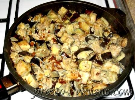 баклажаны жареные как грибы с яйцом рецепт