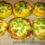Кабачки или цуккини, фаршированные грибами, сыром и рисом 21