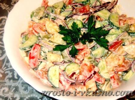 Деревенский салат с печенью рецепт с
