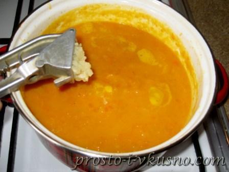Суп-пюре из тыквы с фото 09