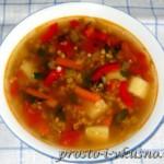 Овощной суп с фасолью Маш 01