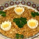 Салат из печени трески с сельдереем 01