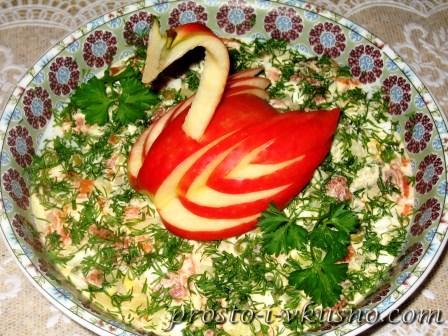 салаты рецепты с фото с грибами и семгой