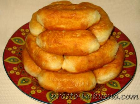 рецепт пышных печеных пирожков на кефире и дрожях