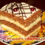 1Бисквитный торт со сметанным кремом