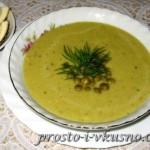 1вСуп-пюре из зеленого горошка со сливками