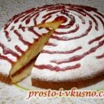 1 Пирог на сгущенке с джемом