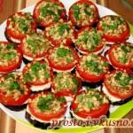 14 Баклажаны с помидорами, сыром и орехами