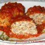1 Гречаники с фаршем в томатном соусе