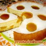 1 Творожный пирог с персиками