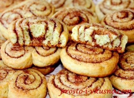 Печенье на кефире с корицей