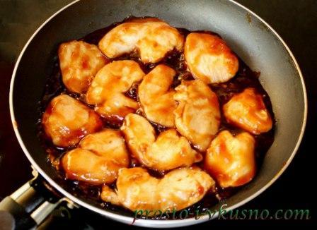 Провариваем курицу в соусе терияки