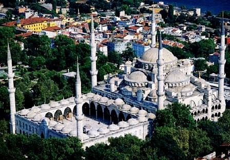 Голубая мечеть с высоты птичьего полета