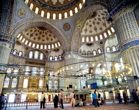 Интерьер Голубой мечети
