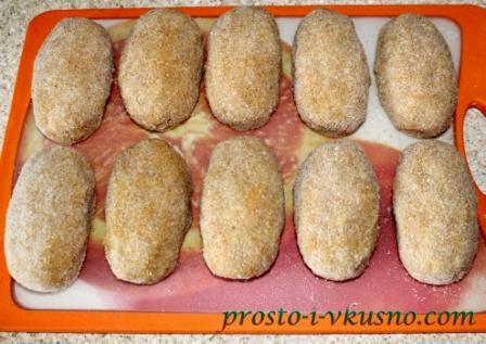 Куриные зразы, подготовленные к обжарке