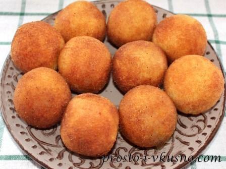 Готовые картофельные крокеты с сыром