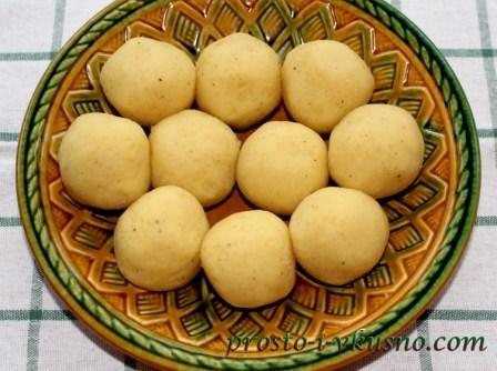 Делаем картофельные шарики