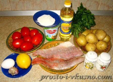 Ингредиенты для рыбной запеканки