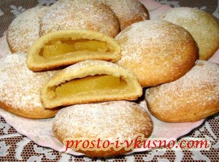 Печенье с яблоками из творожного теста