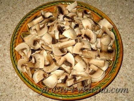 Измельчаем грибы