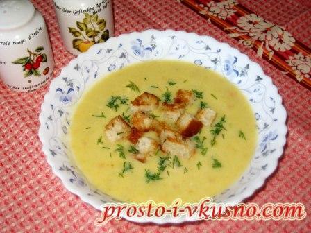 Суп-пюре из кабачков с молоком