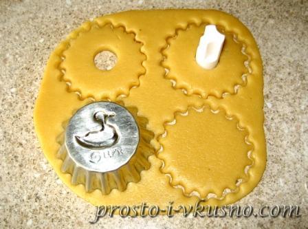 Песочные кольца с миндалем - рецепт пошаговый с фото
