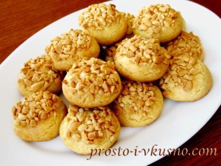 Песочное печенье с орехами