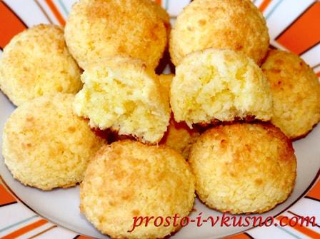 Кокосовое печенье с лимоном без муки