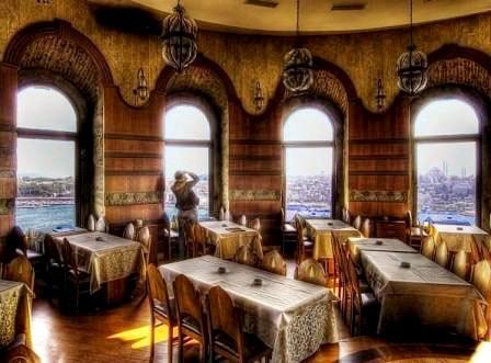 Внутренний интерьер ресторана